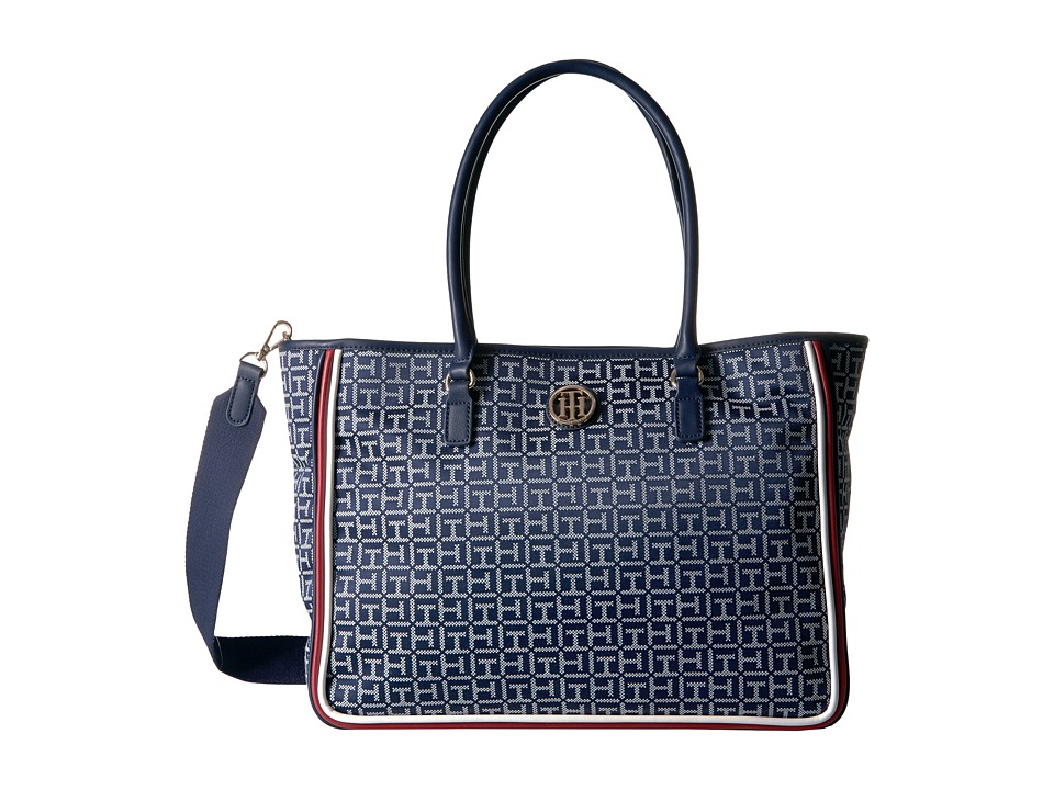 Tommy Hilfiger - Alice Convertible Tote (Navy/White) Tote Handbags