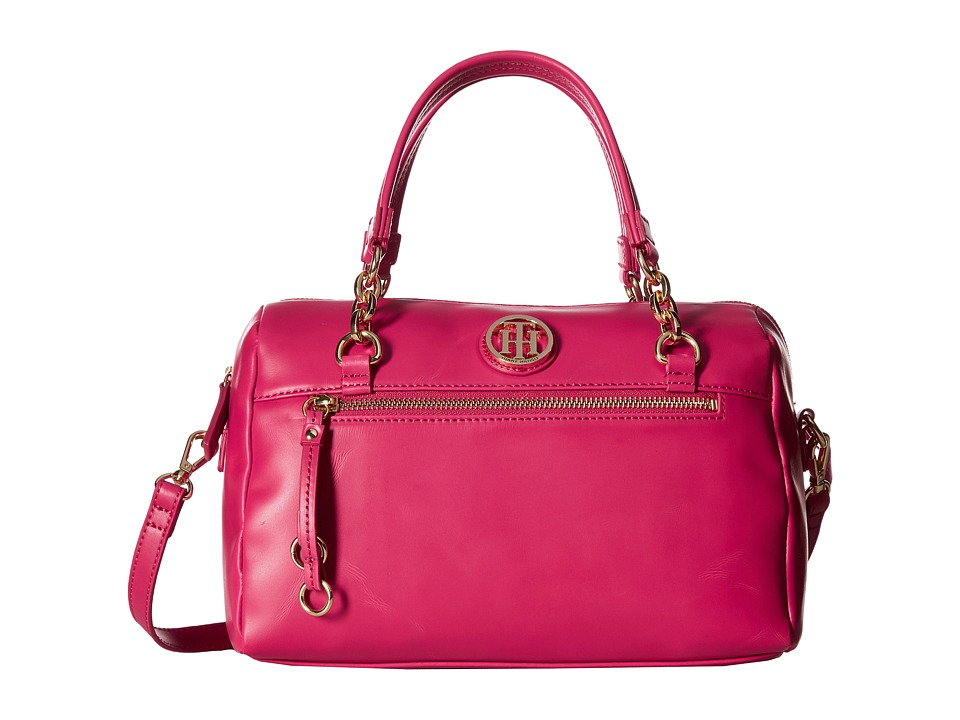 Tommy Hilfiger - Kiara Convertible Satchel (Bright Rose) Satchel Handbags