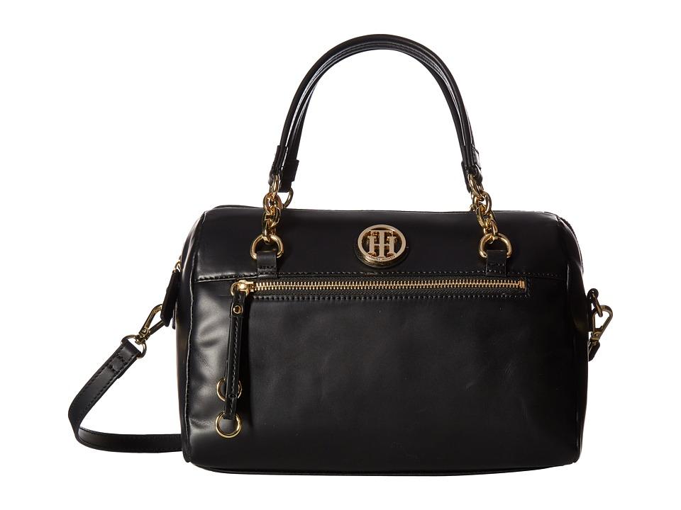 Tommy Hilfiger - Kiara Convertible Satchel (Black) Satchel Handbags