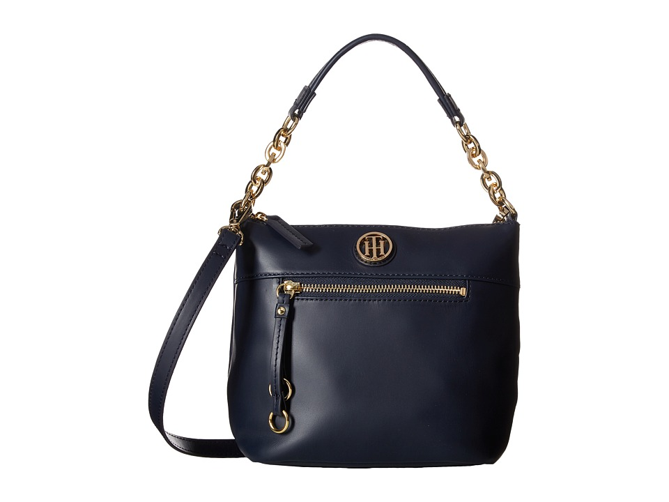 Tommy Hilfiger - Kiara Small Convertible Hobo (Tommy Navy) Hobo Handbags