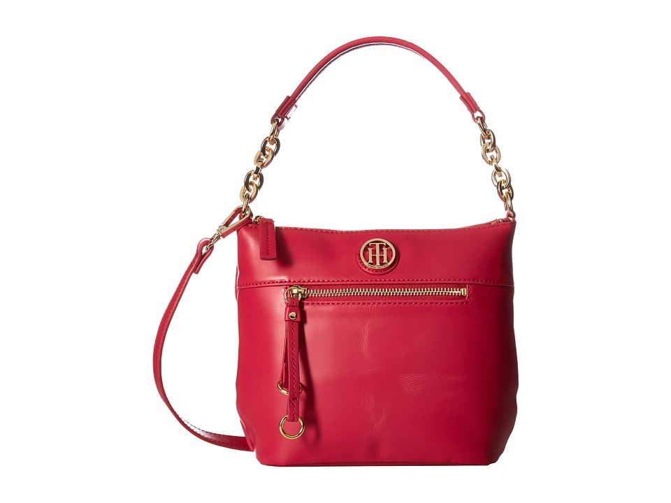 Tommy Hilfiger - Kiara Small Convertible Hobo (Bright Rose) Hobo Handbags