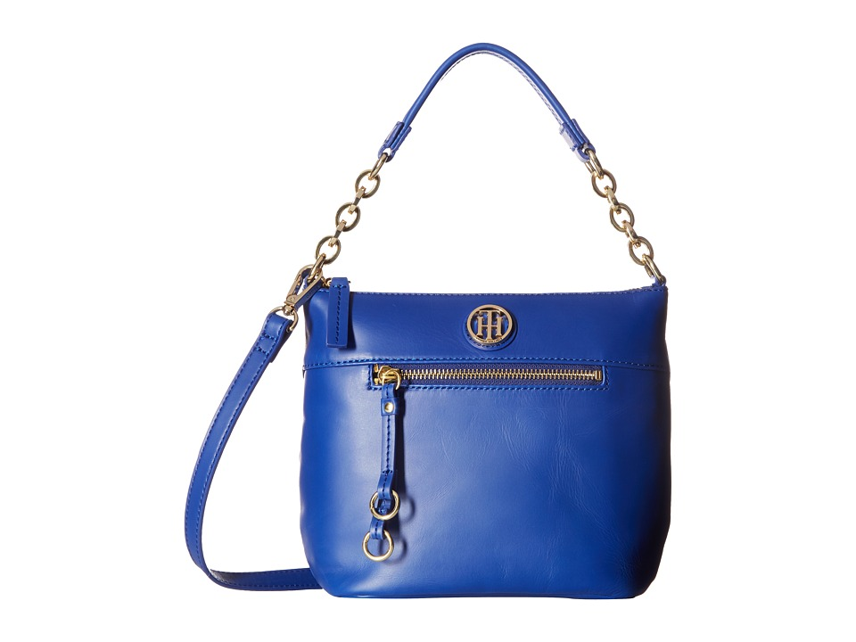 Tommy Hilfiger - Kiara Small Convertible Hobo (Cobalt) Hobo Handbags