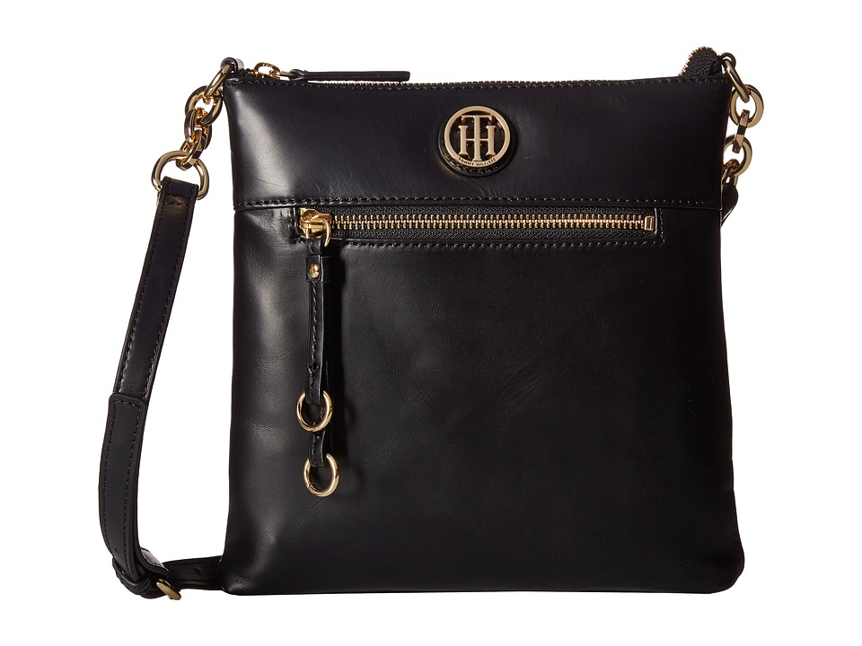 Tommy Hilfiger - Kiara North/South Crossbody (Black) Cross Body Handbags