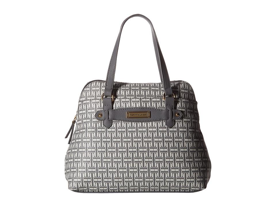 Tommy Hilfiger - Iris II Dome Satchel (Gray/Tonal) Satchel Handbags