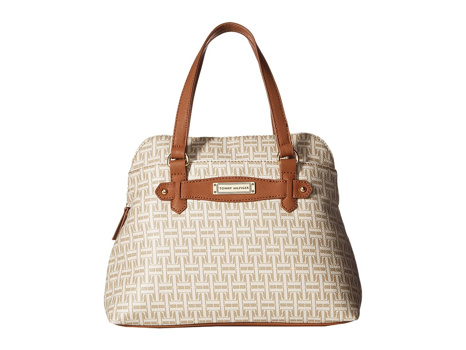 Tommy Hilfiger - Iris II Dome Satchel (Biscuit Tonal) Satchel Handbags