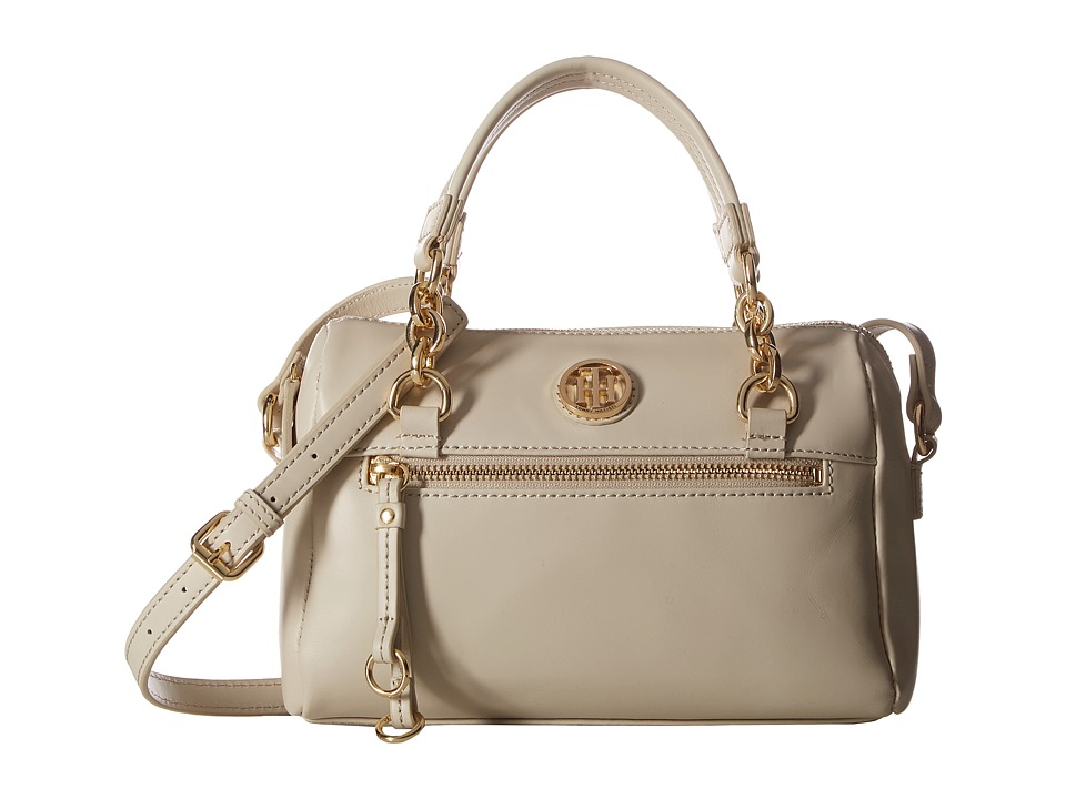 Tommy Hilfiger - Kiara Small Convertible Satchel (Oatmeal) Satchel Handbags