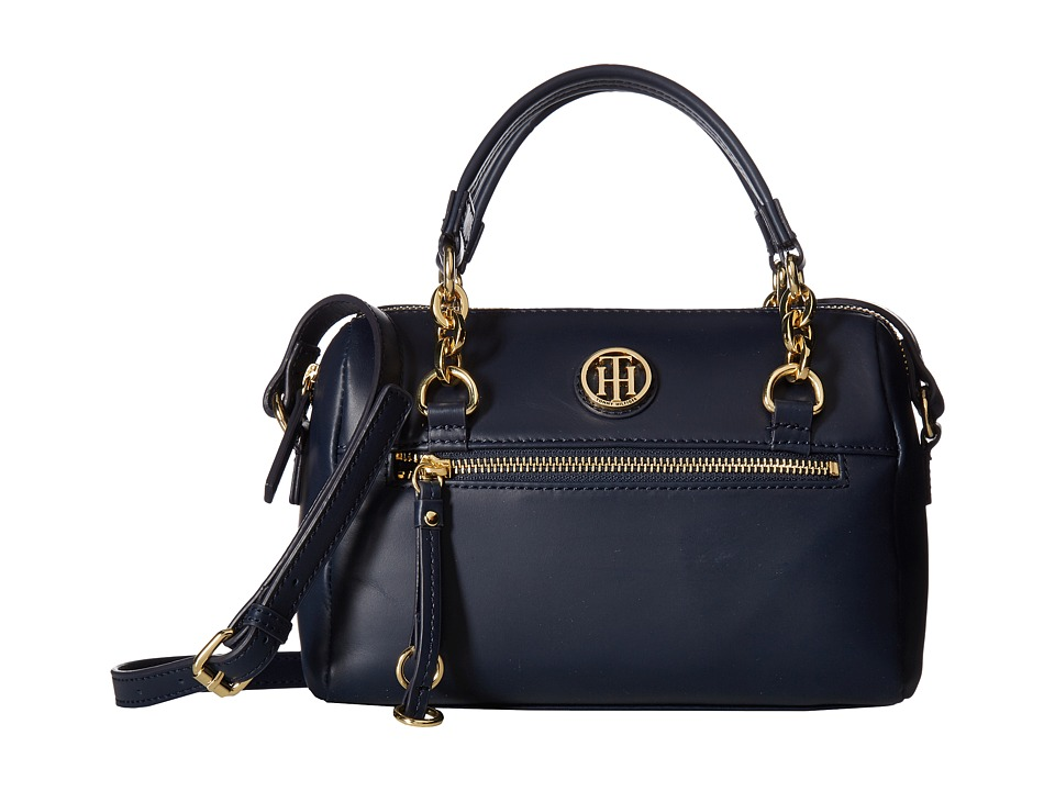 Tommy Hilfiger - Kiara Small Convertible Satchel (Tommy Navy) Satchel Handbags