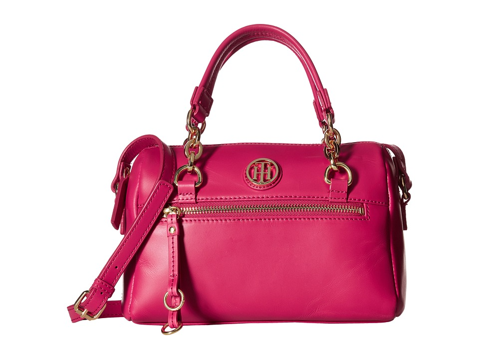 Tommy Hilfiger - Kiara Small Convertible Satchel (Bright Rose) Satchel Handbags