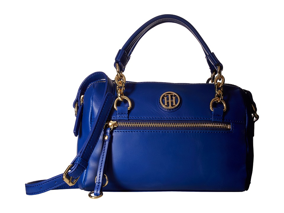 Tommy Hilfiger - Kiara Small Convertible Satchel (Cobalt) Satchel Handbags