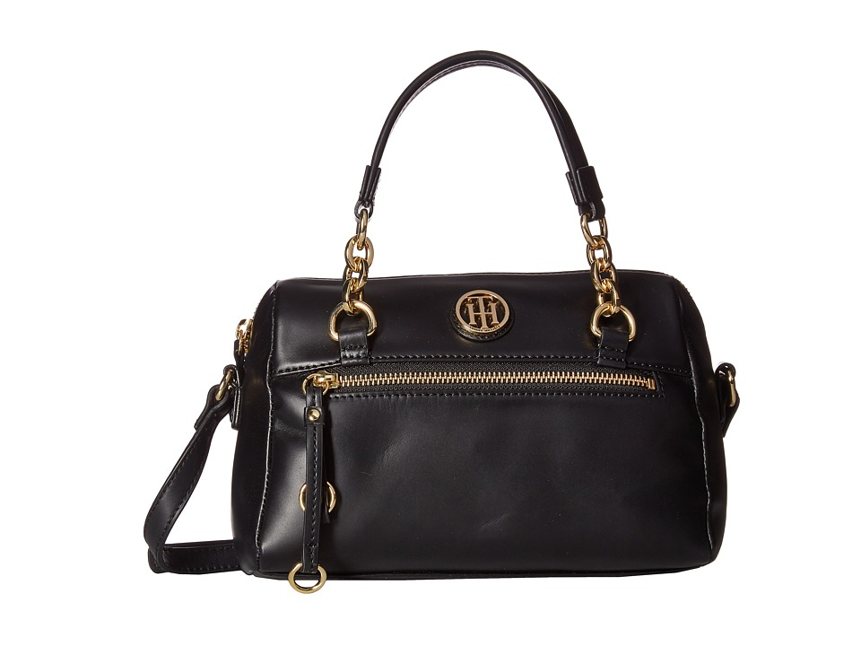 Tommy Hilfiger - Kiara Small Convertible Satchel (Black) Satchel Handbags