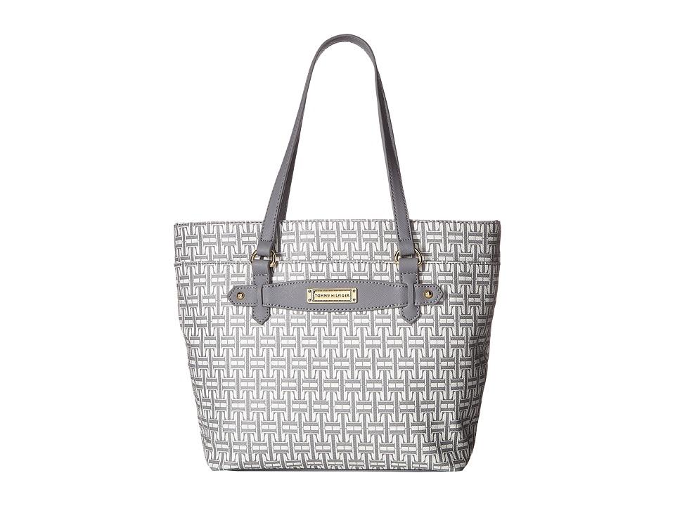 Tommy Hilfiger - Iris II Shopper (Gray/Tonal) Tote Handbags