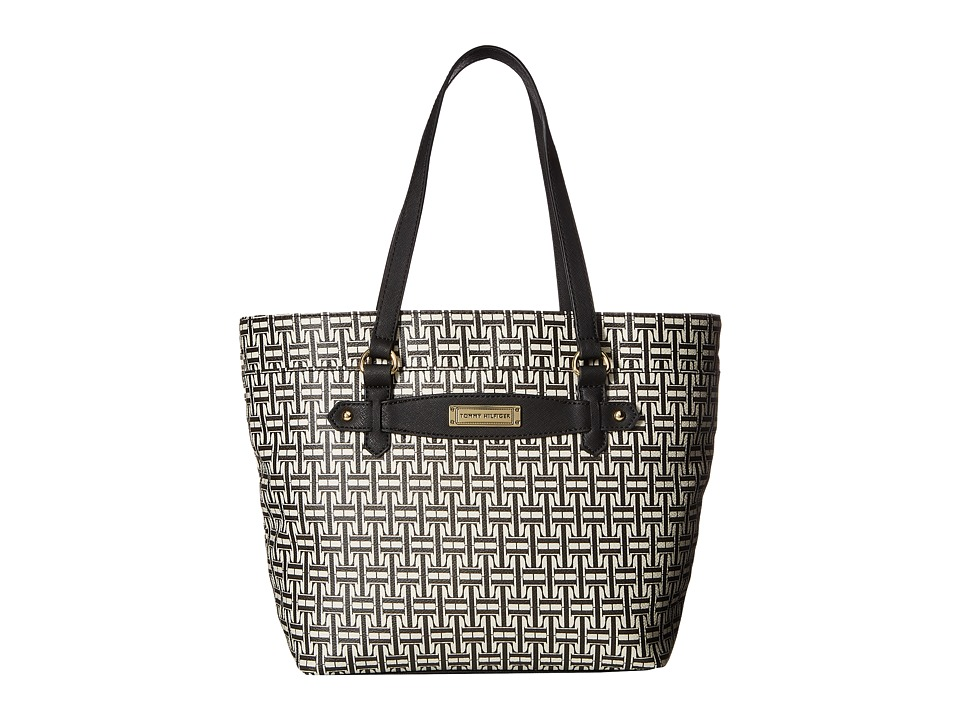 Tommy Hilfiger - Iris II Shopper (Black/Cream) Tote Handbags