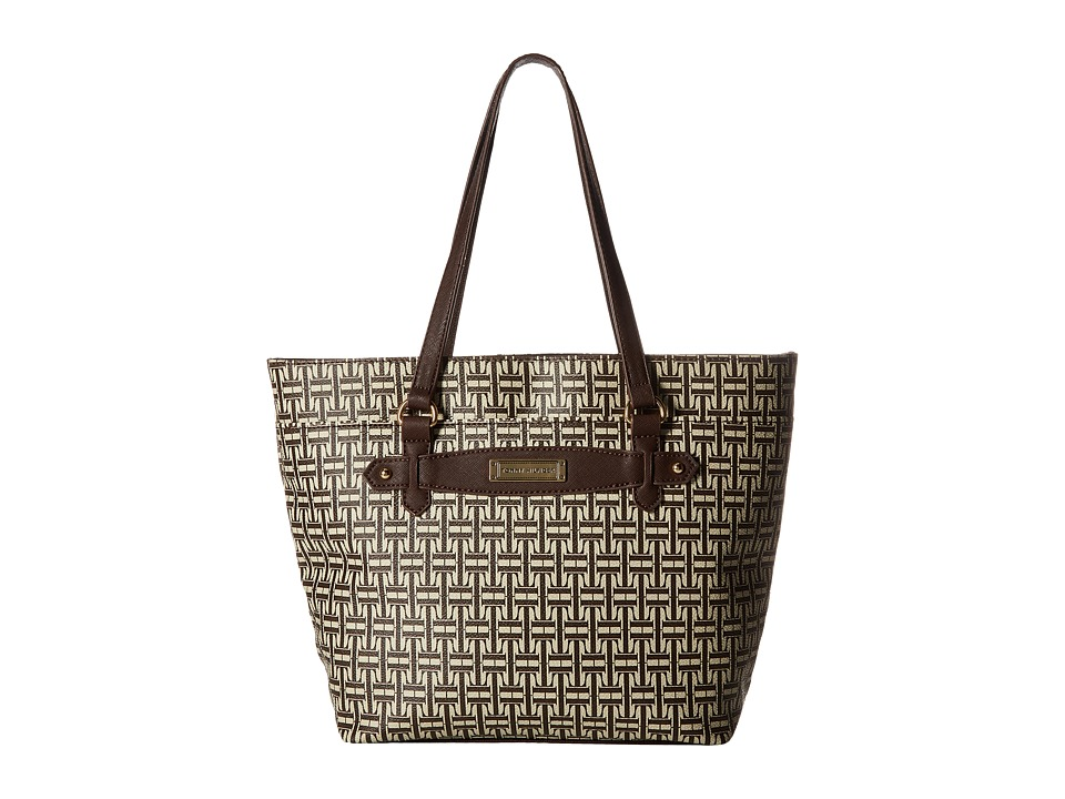 Tommy Hilfiger - Iris II Shopper (Dark Chocolate/Ecru) Tote Handbags