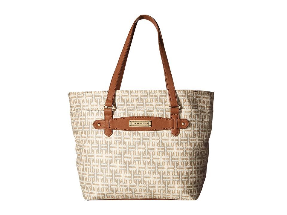 Tommy Hilfiger - Iris II Shopper (Biscuit Tonal) Tote Handbags