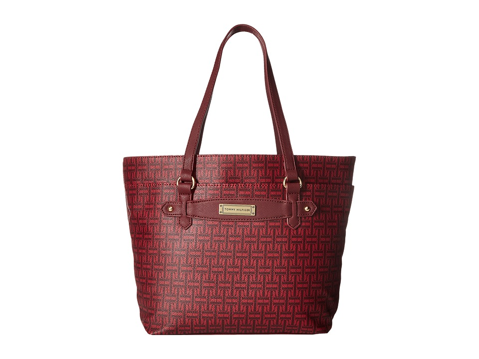 Tommy Hilfiger - Iris II Shopper (Dark Cherry Tonal) Tote Handbags