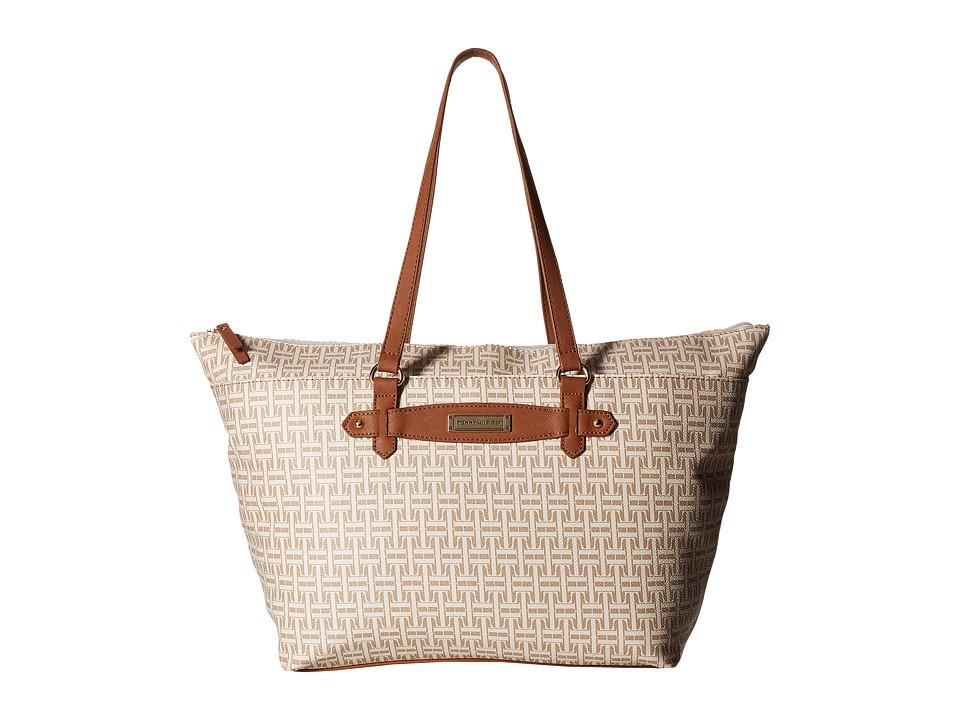 Tommy Hilfiger - Iris II Top Zip Tote (Biscuit Tonal) Tote Handbags