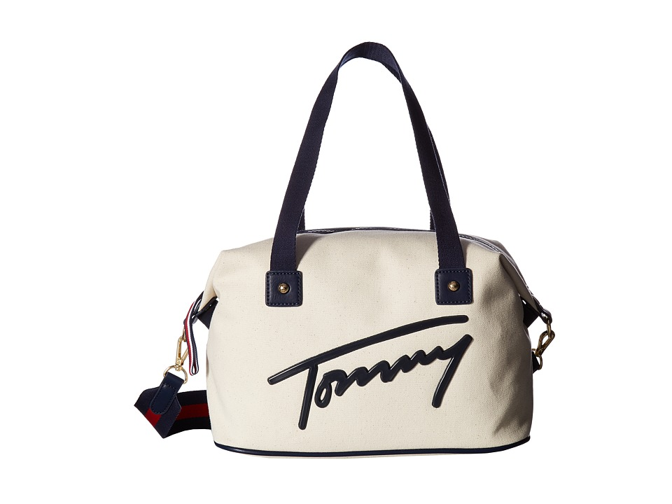 Tommy Hilfiger - Tommy Script Convertible Duffel (Natural) Duffel Bags