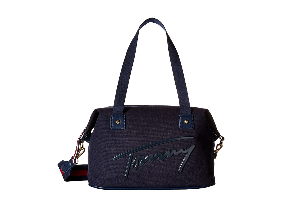 Tommy Hilfiger - Tommy Script Convertible Duffel (Tommy Navy) Duffel Bags