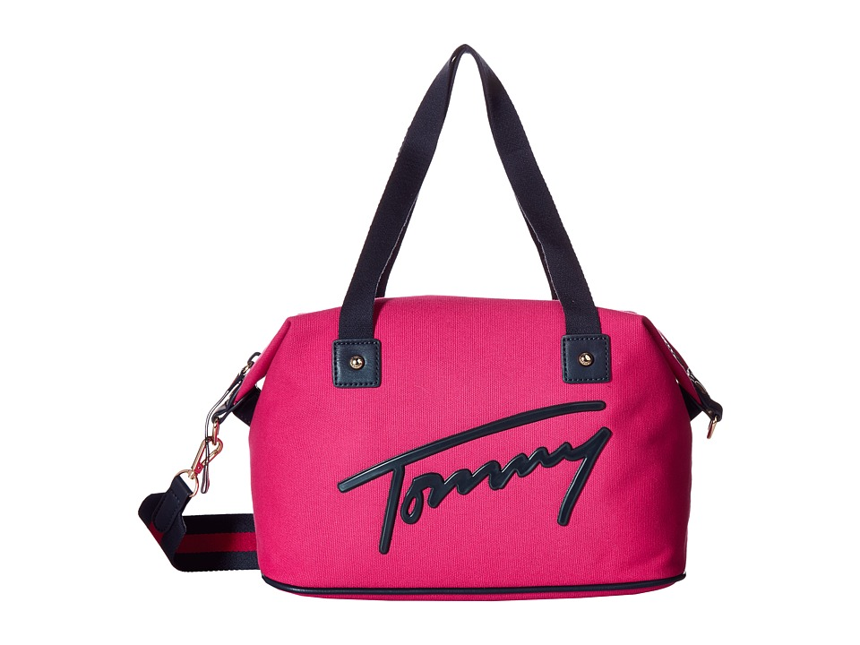 Tommy Hilfiger - Tommy Script Convertible Duffel (Bright Rose) Duffel Bags