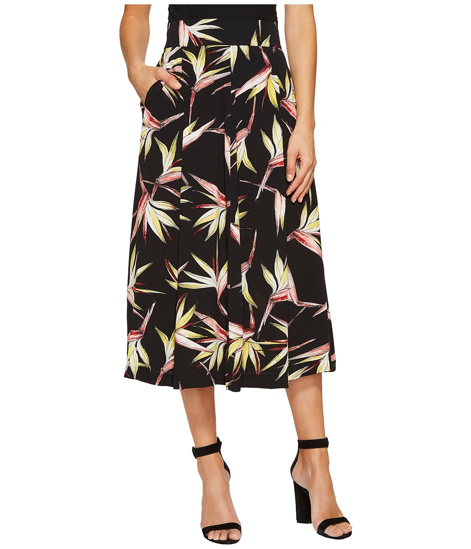 1.STATE - A-Line Midi Skirt (Rich Black) Women's Skirt