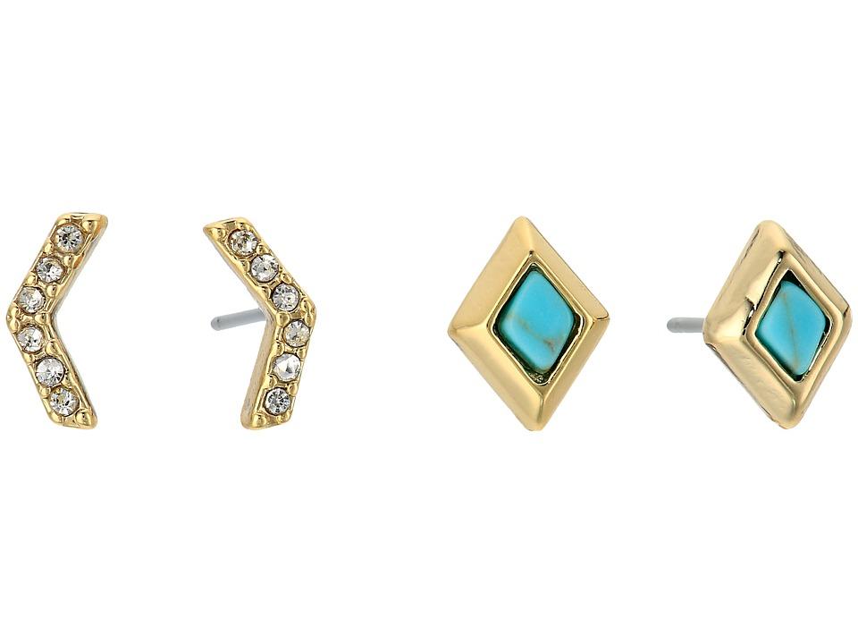 Vera Bradley - Stylist Earring Set (Gold Tone) Earring