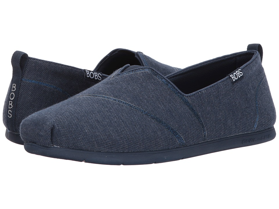 BOBS from SKECHERS Plush Lite Winter Skies (Navy) Women