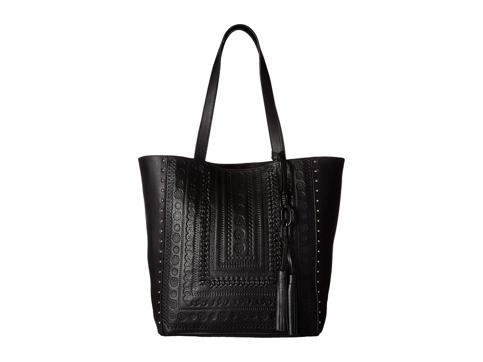 Steven - Jindie Leather Tote (Black) Tote Handbags