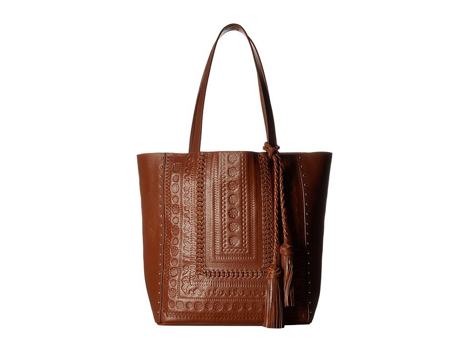 Steven - Jindie Leather Tote (Cognac) Tote Handbags