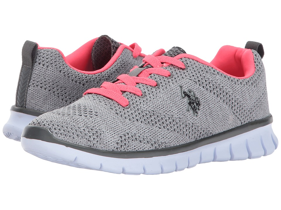 U.S. POLO ASSN. - Emery-K (Grey/Neon Coral) Women's Shoes