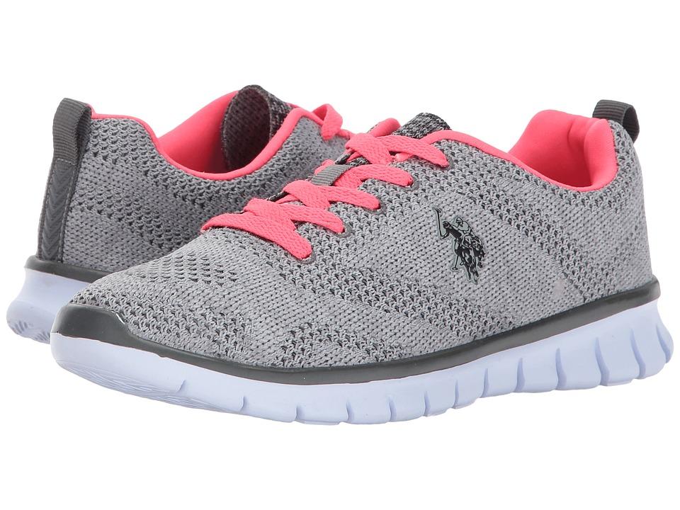 U.S. POLO ASSN. - Emery-K (Grey/Neon Coral) Women's Shoes