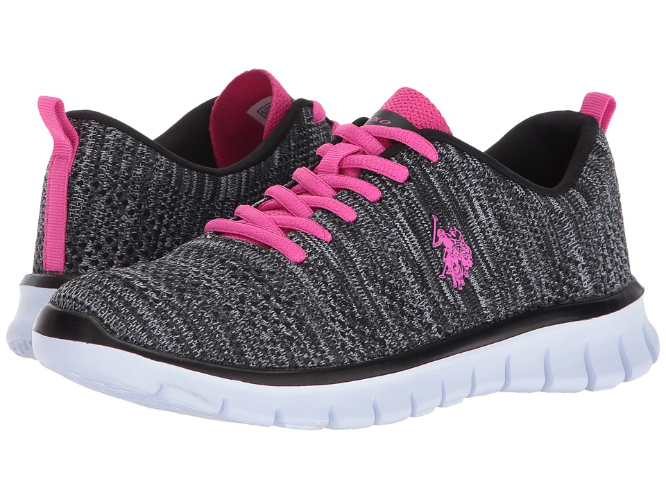 U.S. POLO ASSN. - Iris-K (Black/Grey/Fuchsia) Women's Shoes