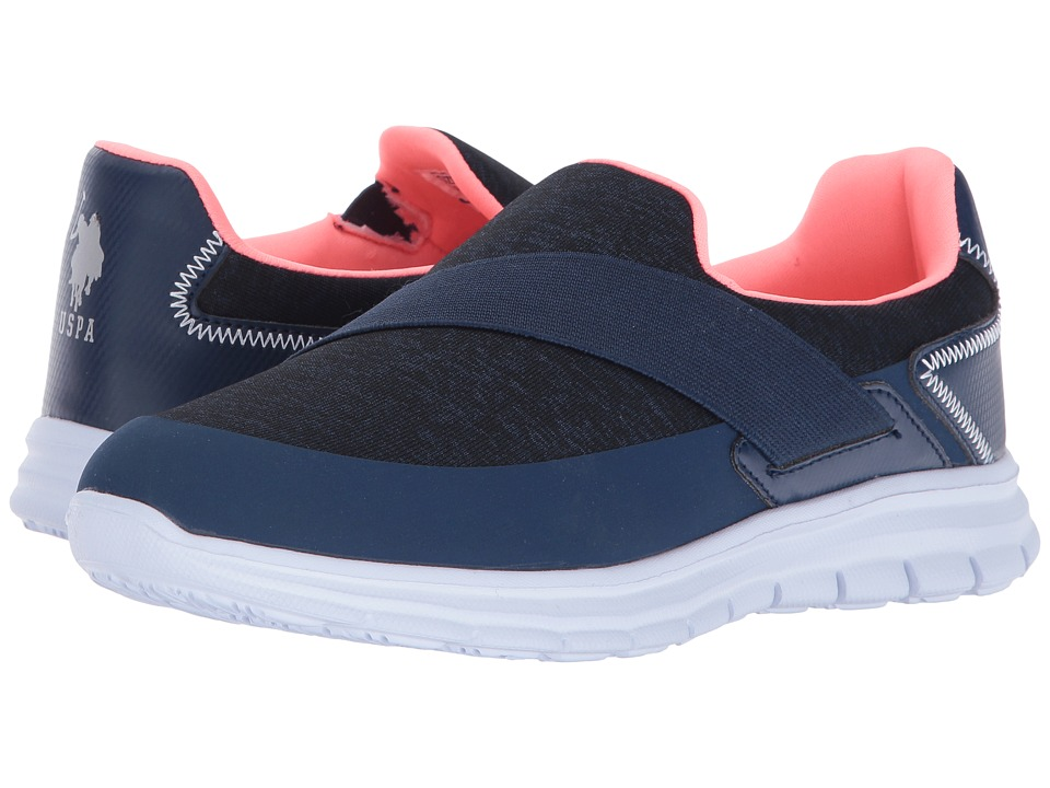U.S. POLO ASSN. - Mona-J (Navy/Coral) Women's Shoes