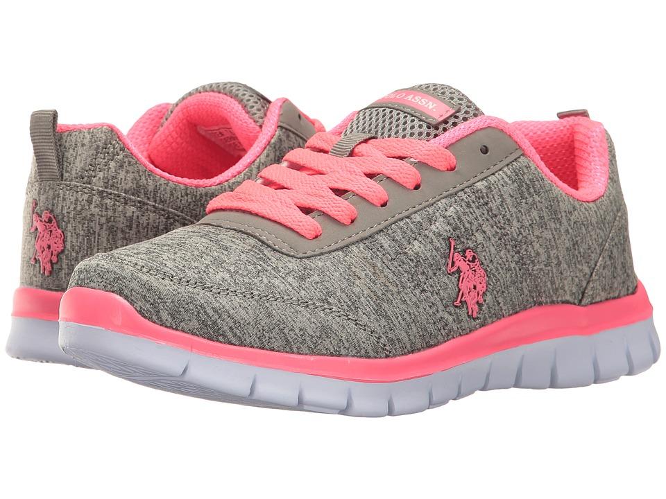 U.S. POLO ASSN. - Cece (Grey Heather Jersey/Hot Pink) Women's Shoes