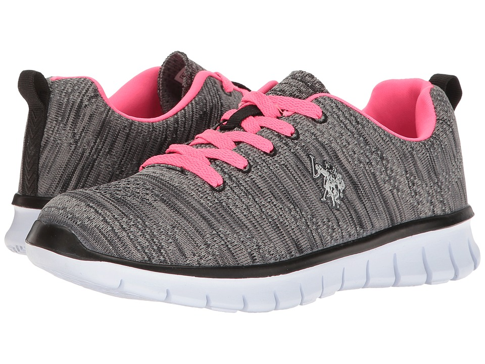 U.S. POLO ASSN. - Emery-K (Black/Hot Pink) Women's Shoes