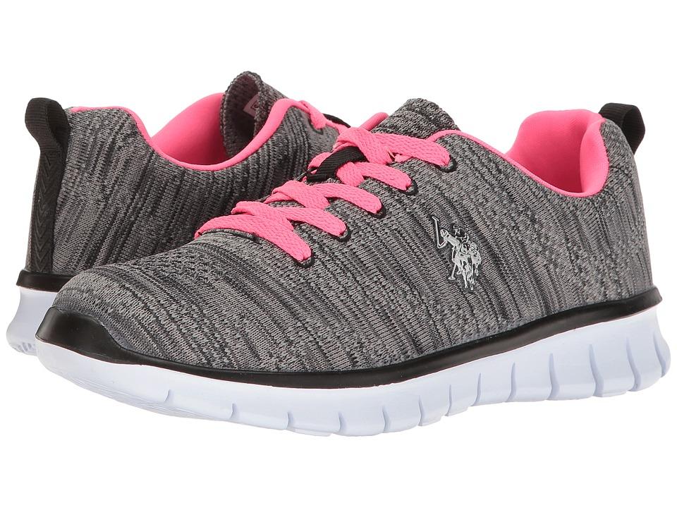 U.S. POLO ASSN. - Emery-K (Black/Hot Pink) Women's Shoes