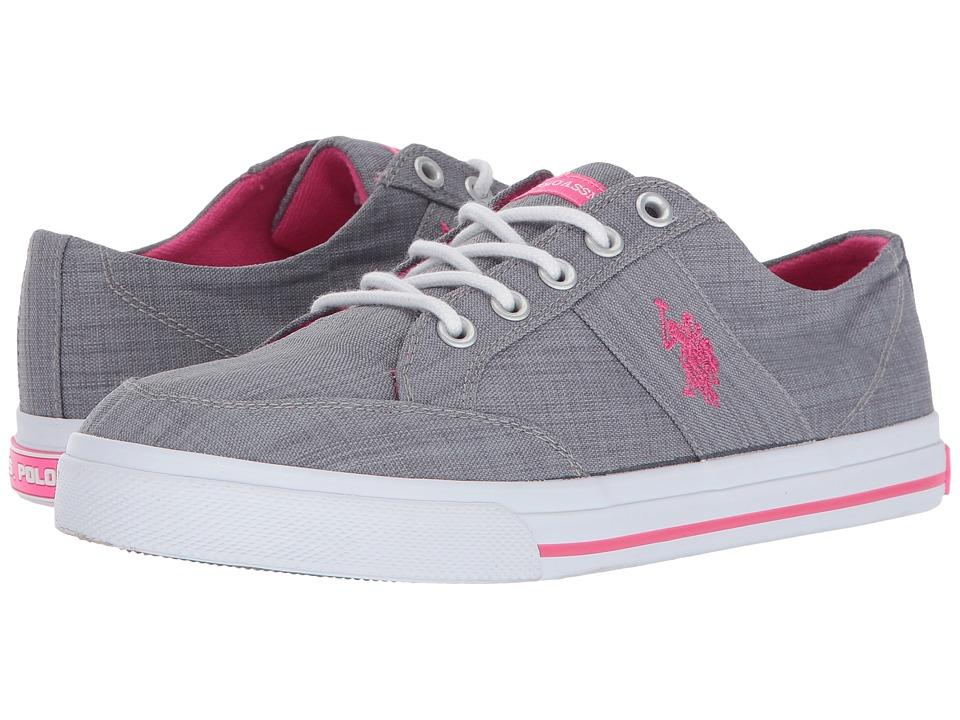 U.S. POLO ASSN. - Kiama-LN (Grey/Hot Pink) Women's Shoes
