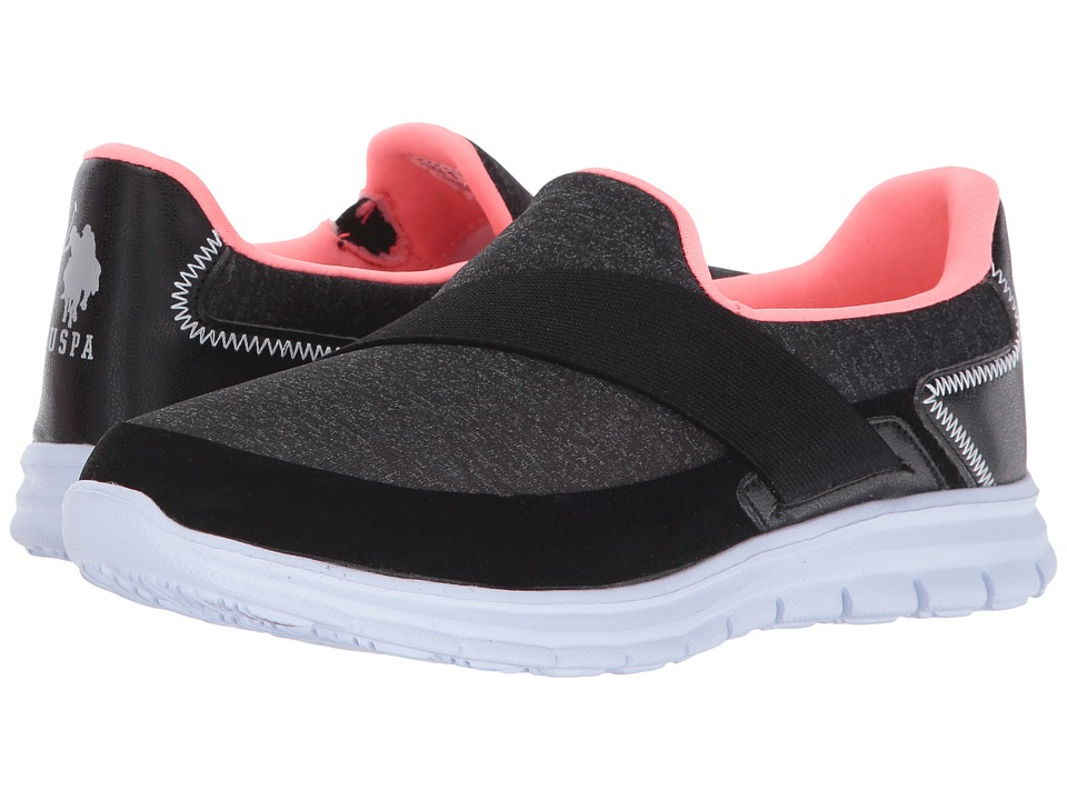 U.S. POLO ASSN. - Mona-J (Black/Coral) Women's Shoes