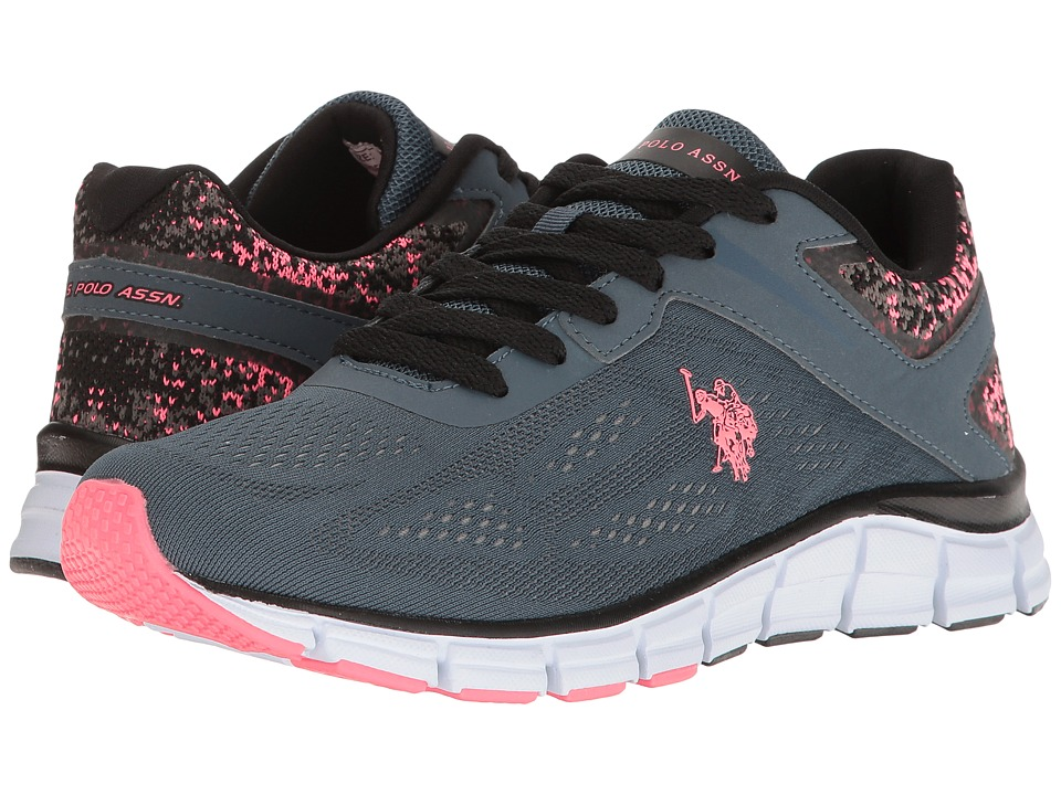 U.S. POLO ASSN. - Raven-EK (Slate Grey/Coral/Black) Women's Shoes