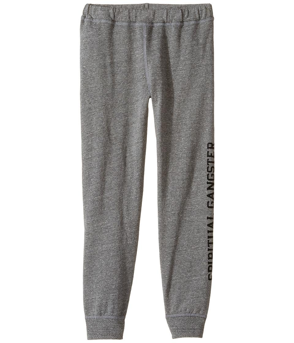 Spiritual Gangster Kids - SG Varsity Dharma Pants (Big Kids) (Heather Grey) Girl's Casual Pants