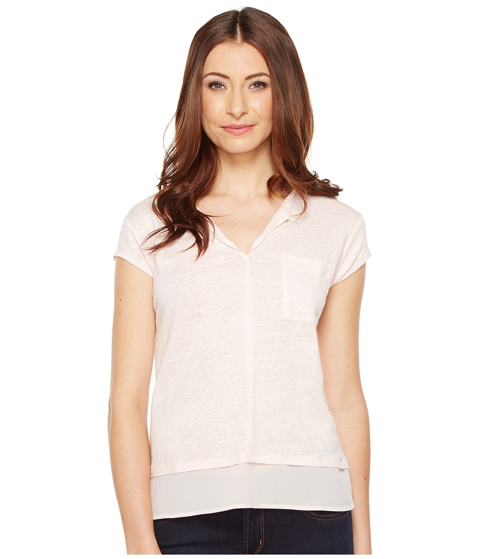 Sanctuary - City Mix Tee (Barely Pink) Women's Short Sleeve Pullover