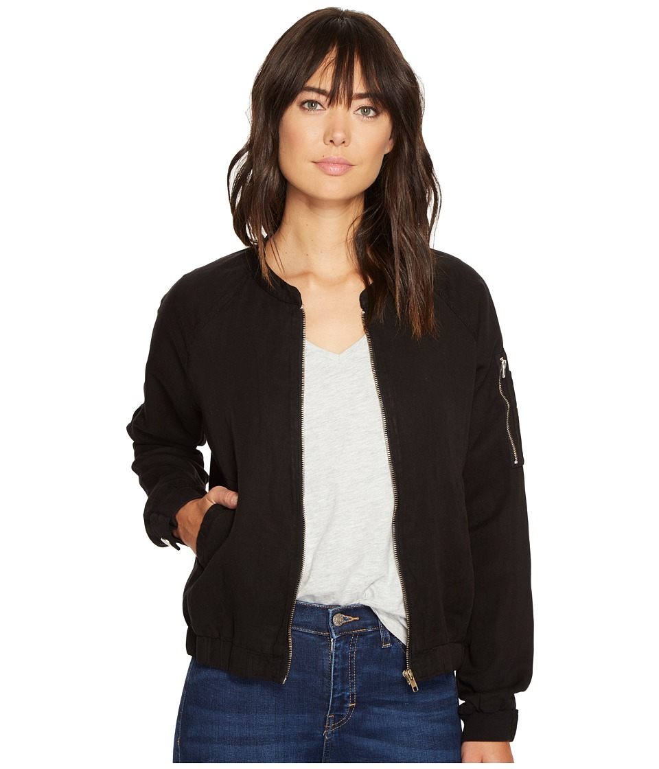 Sanctuary - Pilot Bomber (Black) Women's Coat