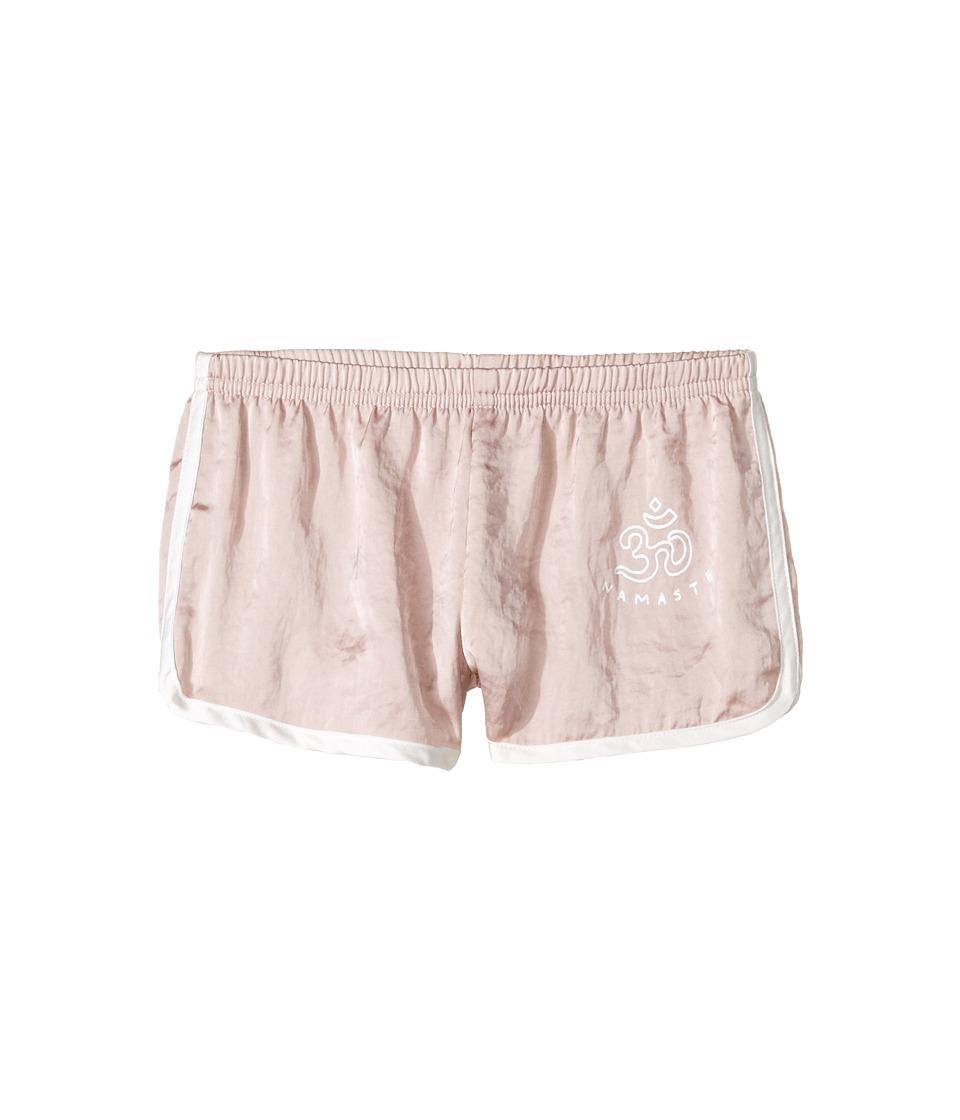 Spiritual Gangster Kids - Om Namaste Asana Shorts (Toddler/Little Kids/Big Kids) (Blush) Girl's Shorts