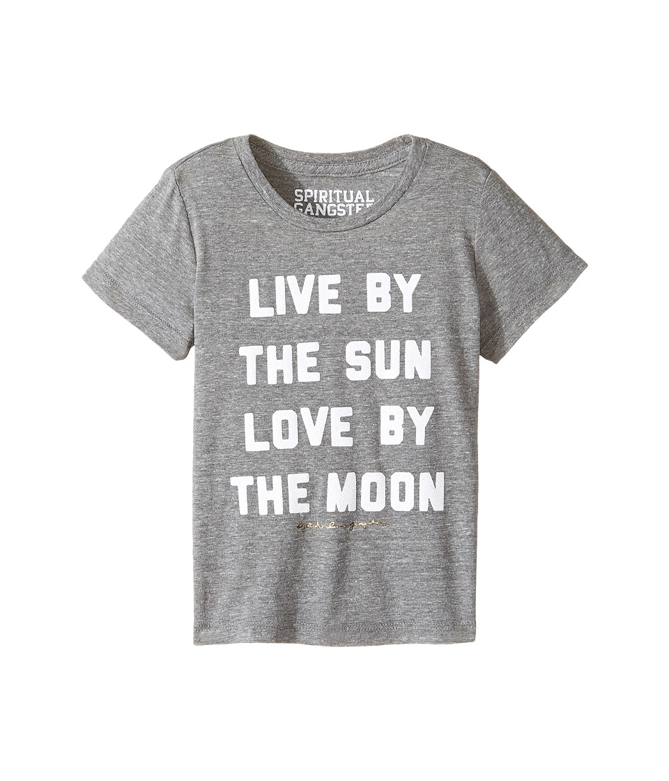 Spiritual Gangster Kids - Live and Love Tee (Toddler/Little Kids/Big Kids) (Heather Grey) Girl's Clothing