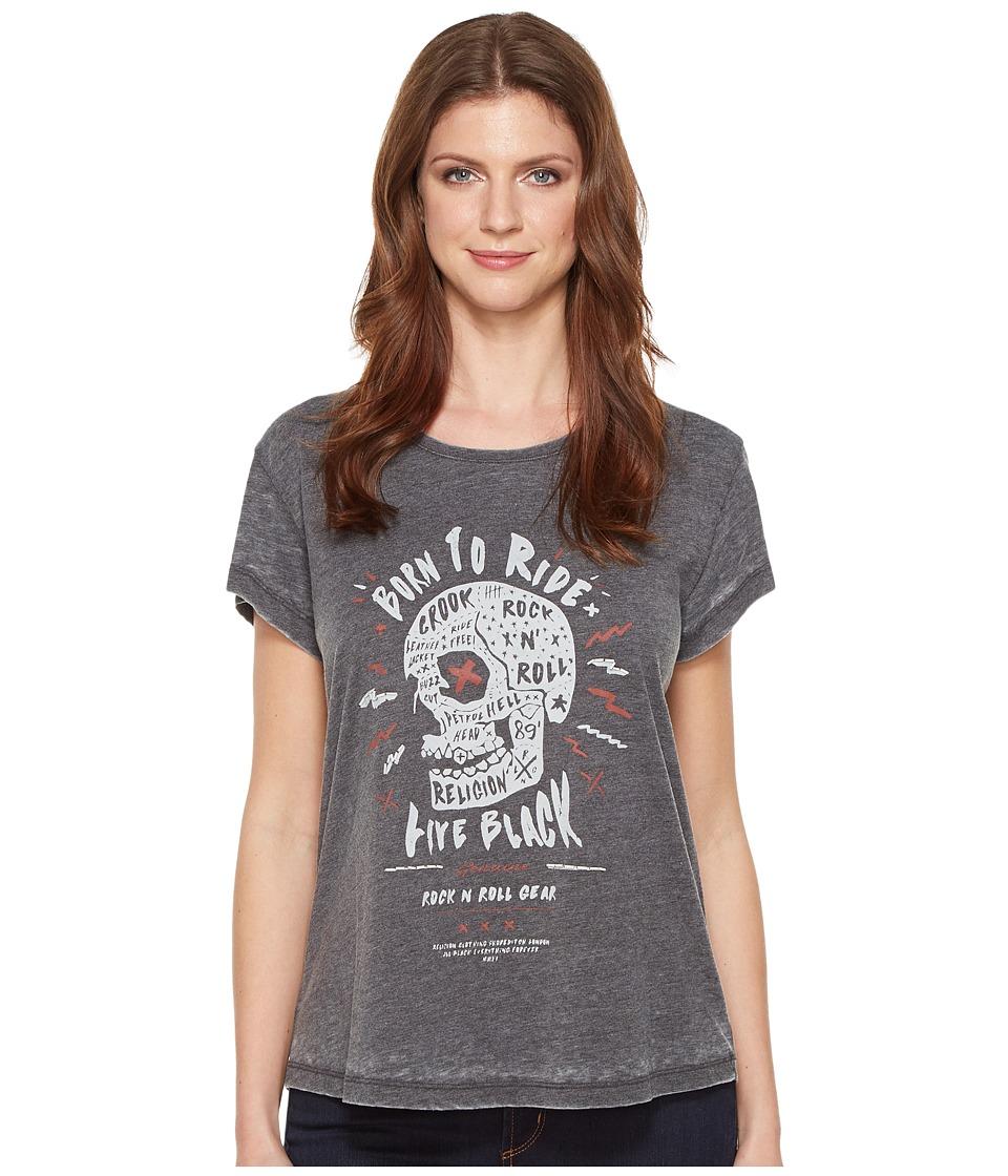 Religion - Rock Roll Tee (Charcoal) Women's T Shirt