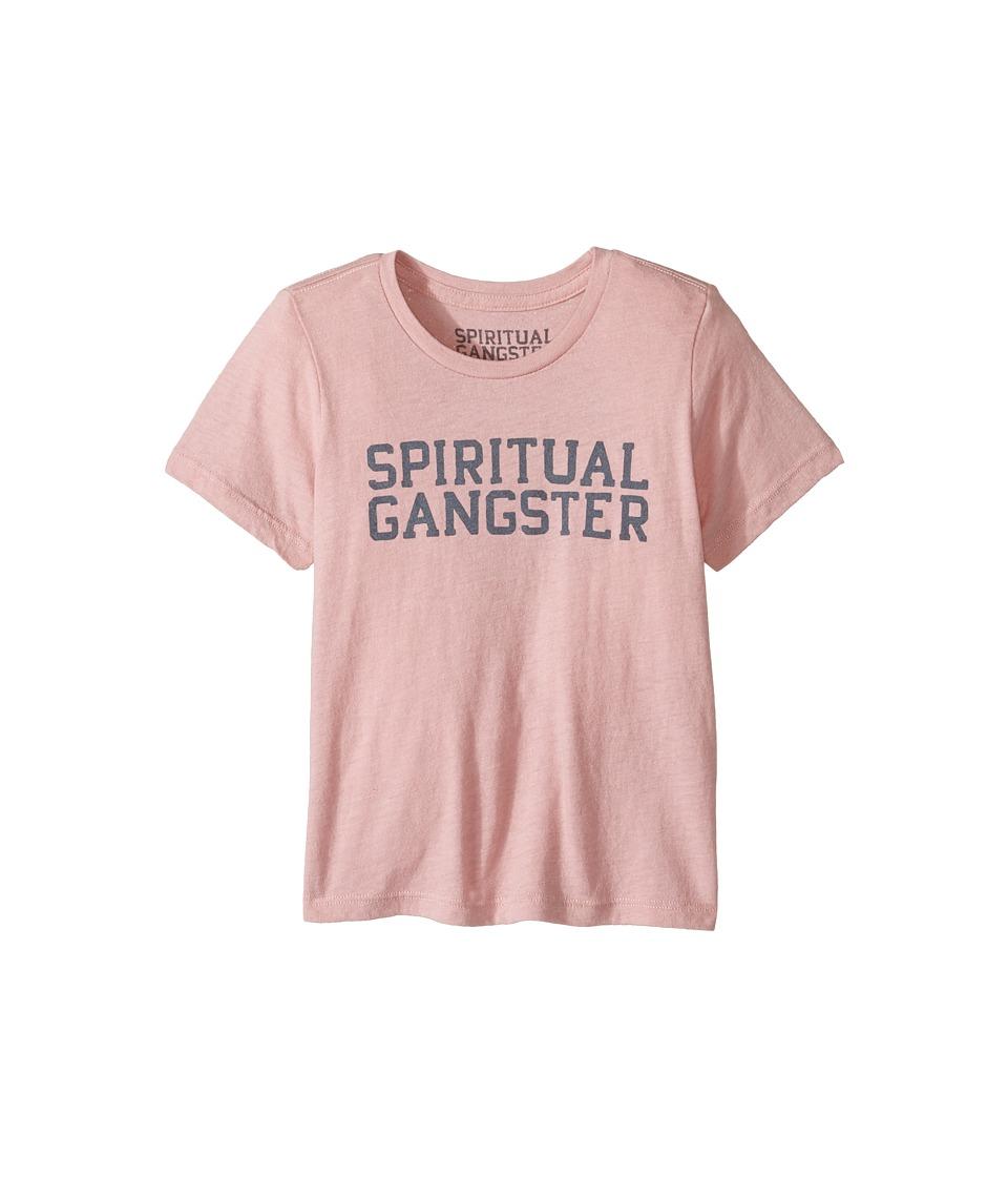 Spiritual Gangster Kids - SG Varsity Tee (Toddler/Little Kids/Big Kids) (Blush) Girl's Clothing