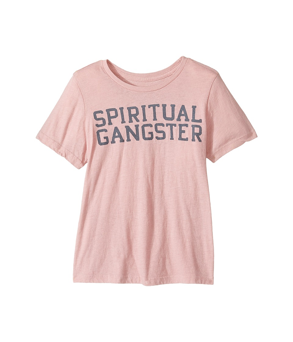 Spiritual Gangster Kids - SG Varsity Tweens Tee (Big Kids) (Blush) Girl's T Shirt