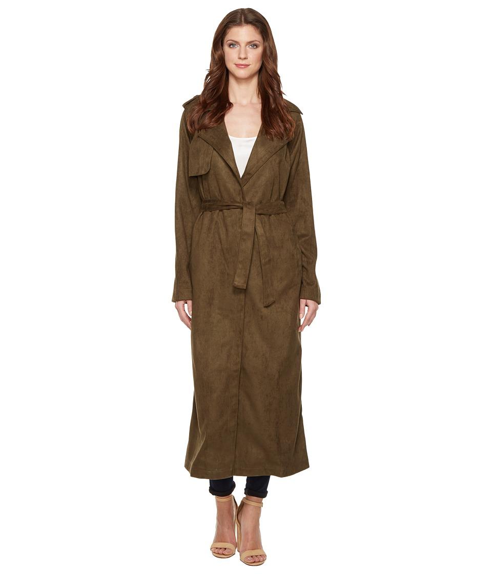 Religion - Liberty Faux Suede Coat (Dusty Olive) Women's Coat