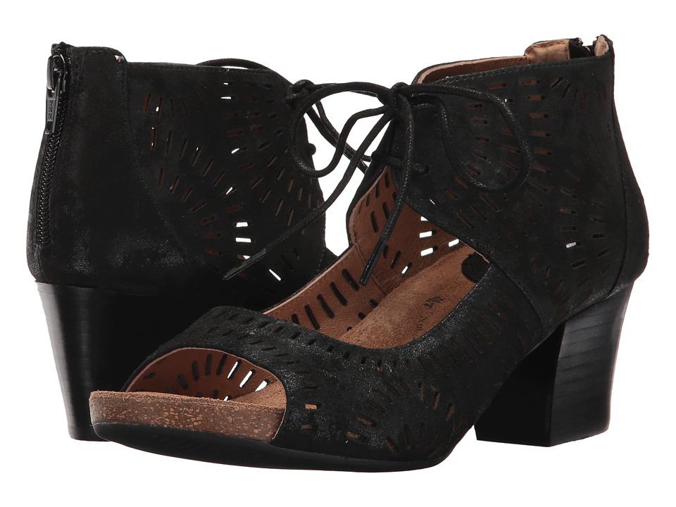 Sofft Modesto (Black Distressed Foil Suede) Women