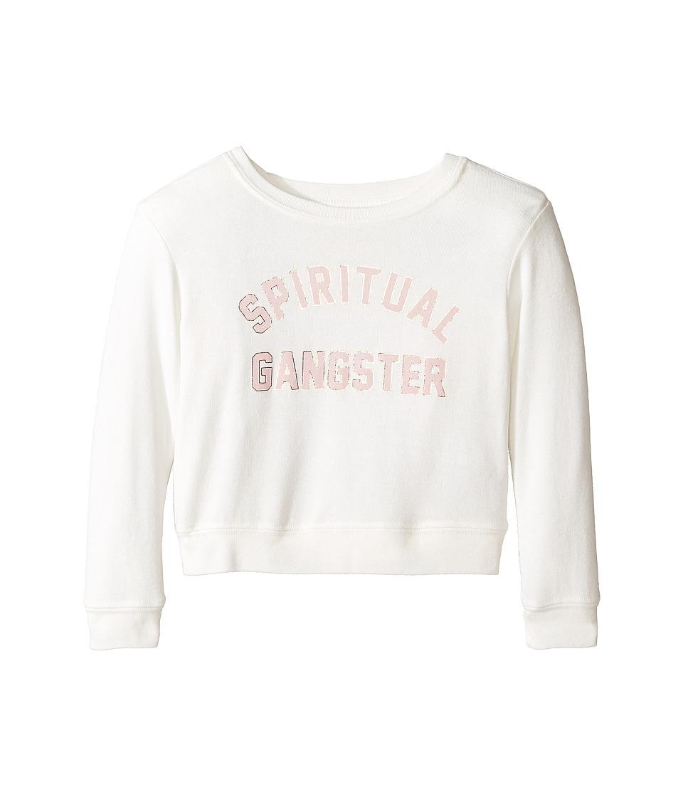 Spiritual Gangster Kids - SG Varsity Savasana (Toddler/Little Kids/Big Kids) (Stardust) Girl's Long Sleeve Pullover