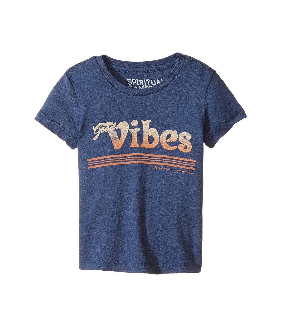 Spiritual Gangster Kids - Good Vibes Tee (Toddler/Little Kids/Big Kids) (Twilight) Girl's T Shirt